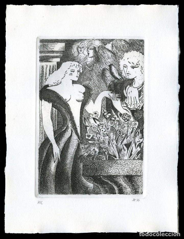 RAMÓN RAMÍREZ. JUEGOS ERÓTICOS. AGUAFUERTE PARA EMILIA DE EL MARQUÉS DE SADE (Coleccionismo para Adultos - Arte)