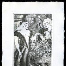 Arte: RAMÓN RAMÍREZ. JUEGOS ERÓTICOS. AGUAFUERTE PARA EMILIA DE EL MARQUÉS DE SADE. Lote 205702553