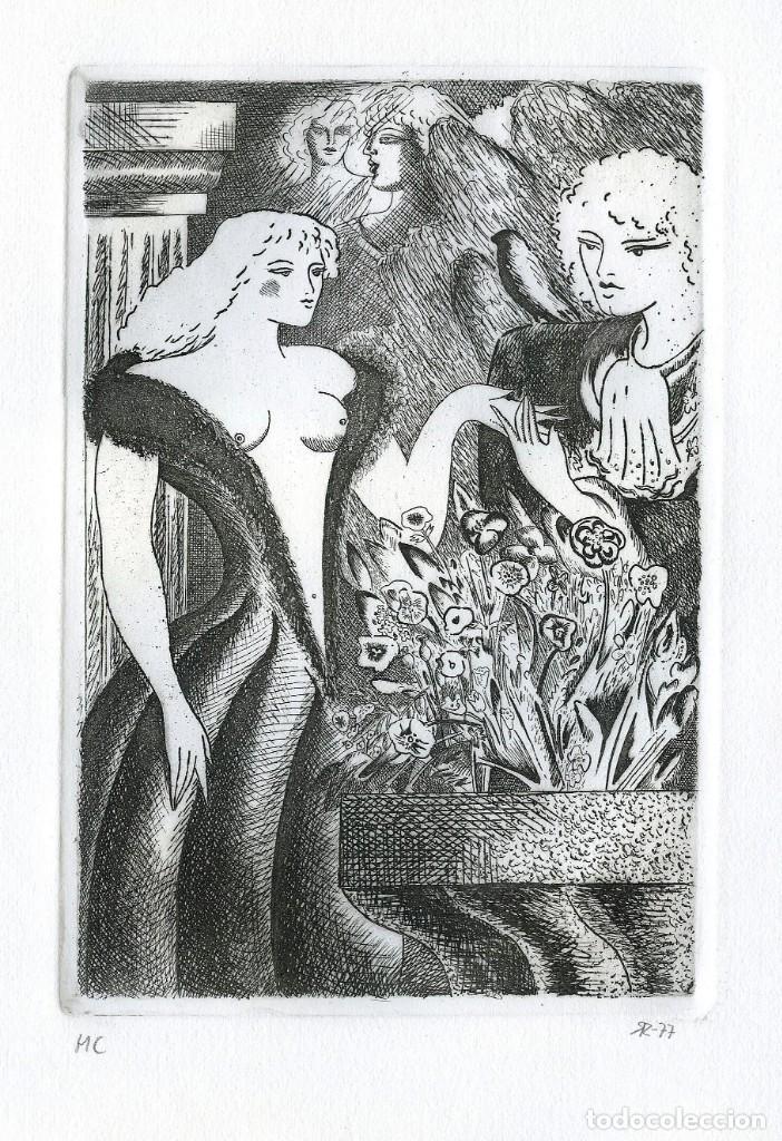 Arte: RAMÓN RAMÍREZ. JUEGOS ERÓTICOS. AGUAFUERTE PARA EMILIA DE EL MARQUÉS DE SADE - Foto 2 - 205702553
