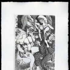 Arte: RAMÓN RAMÍREZ. JUEGOS ERÓTICOS. AGUAFUERTE PARA EMILIA DE EL MARQUÉS DE SADE. Lote 205702601