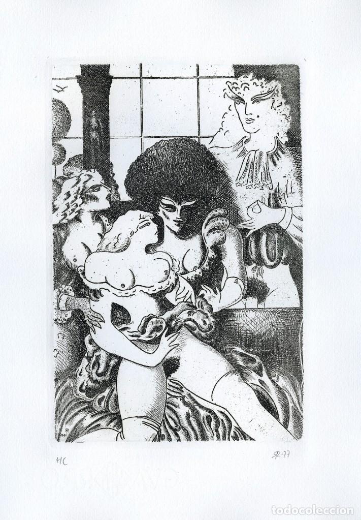Arte: RAMÓN RAMÍREZ. JUEGOS ERÓTICOS. AGUAFUERTE PARA EMILIA DE EL MARQUÉS DE SADE - Foto 2 - 205702730