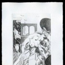 Arte: RAMÓN RAMÍREZ. JUEGOS ERÓTICOS. AGUAFUERTE PARA EMILIA DE EL MARQUÉS DE SADE. Lote 205702818