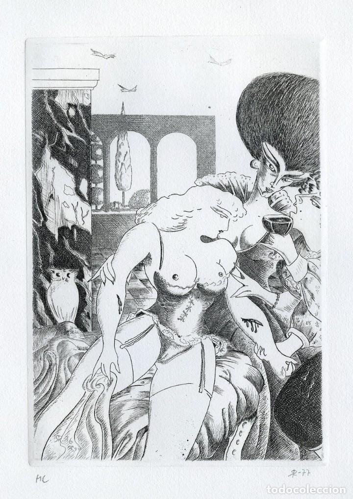 Arte: RAMÓN RAMÍREZ. JUEGOS ERÓTICOS. AGUAFUERTE PARA EMILIA DE EL MARQUÉS DE SADE - Foto 2 - 205702818
