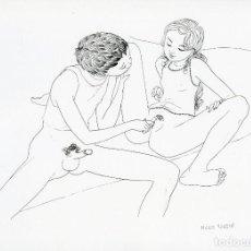 Arte: ARTE ERÓTICO. MARIO TAUZIN (1909 - 1979). LITOGRAFIA ORIGINAL. FIRMADA. Lote 205732866