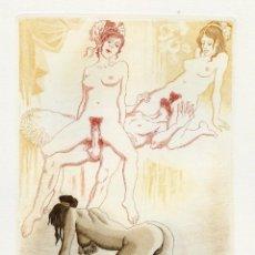 Arte: PERELLÓN, CELEDONIO. GAMIANI. AGUAFUERTE ORIGINAL. EROTISMO. DE LA COLECCIÓN GAMIANI. Lote 205828661