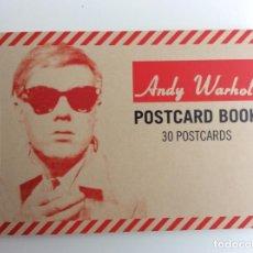 Arte: ENVÍO 6€. POSTCARD BOOK ANDY WARHOL DE 12X18CM (CERRADO) CONTIENE 30 POSTALES NUEVAS. Lote 218492633
