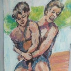 Arte: FELICIDAD ENTRE HOMBRES (ORIGINAL). Lote 234586835
