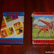 Barajas: FOURNIER BARAJA ANIMALES VERTEBRADOS COMPLETA AÑO 1968 MÁS REGALO DOMINO ORTOGRAFÍA INCOMPLETA. Lote 106391651