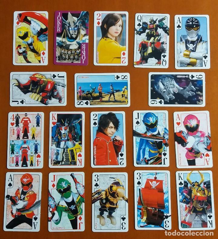 BARAJA CARTAS POKER JAPONESA GOKAIGER SUPER SENTAI TOKUSATSU. POWER RANGERS. IMPORTADA JAPÓN. (Coleccionismo para Adultos - Barajas)
