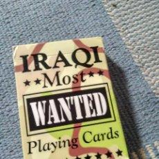 Barajas: BARAJA DE CARTAS IRAQI MOST WANTED PLAYING CARDS . Lote 122343383