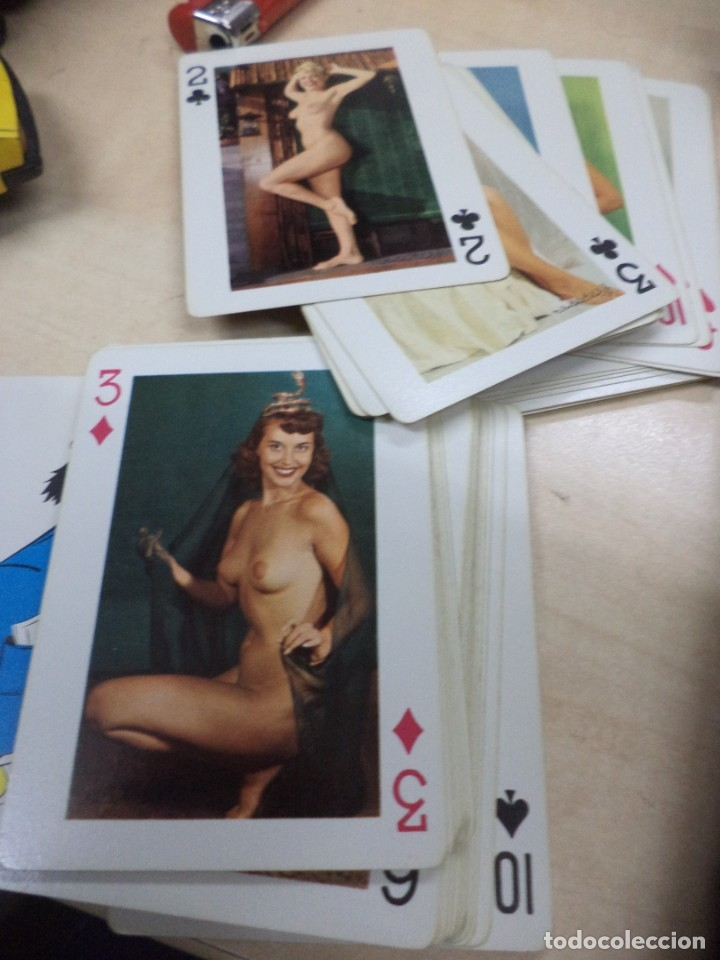 Barajas: Baraja de Poker Wolf Pack U.S.A.Models of all Nations.Pin up chicas desnudas vintage años 40. - Foto 4 - 144793754