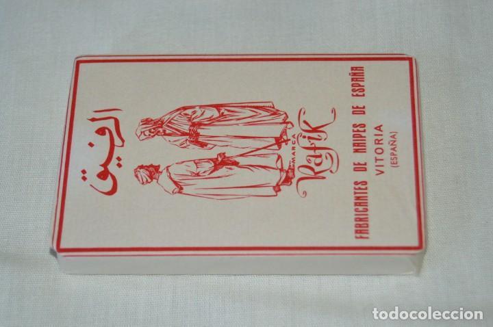 HERÁCLIO FOURNIER - RAFIK ANTIGUA - NUEVA, ENVOLTORIO ORIGINAL, TIMBRE NAIPES EXPORTACIÓN - AÑOS 60 (Coleccionismo para Adultos - Barajas)