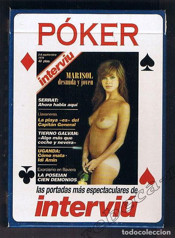 Barajas: Baraja de cartas erótica de Póker Interviú Marisol en portada NUEVA - Foto 3 - 175459655