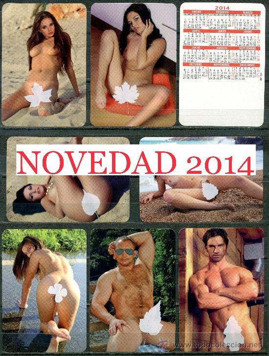 """7 CALENDARIOS BOLSILLO """"X"""". DESNUDOS SERIGRAFIADOS 2014 (Coleccionismo para Adultos - Calendarios)"""