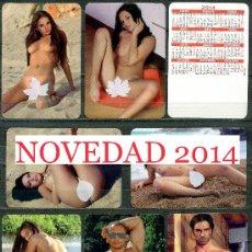 """Calendarios: 7 CALENDARIOS BOLSILLO """"X"""". DESNUDOS SERIGRAFIADOS 2014. Lote 222303186"""
