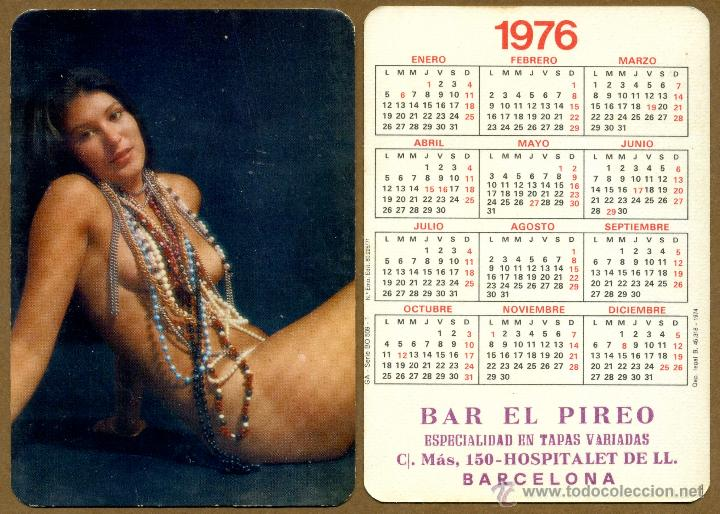 CALENDARIOS BOLSILLO DESNUDOS - CHICA 1976 (Coleccionismo para Adultos - Calendarios)
