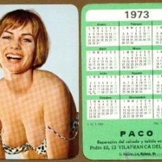 Calendarios: CALENDARIOS BOLSILLO DESNUDOS - CHICA 1973. Lote 41558776