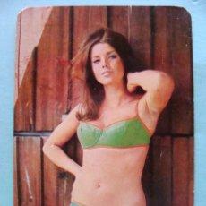 Calendarios: CALENDARIO DE DESNUDOS. AÑO 1971. MUJER SEXY EROTICA. DESNUDA. BIKINI VERDE NO FOURNIER. Lote 43106404
