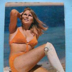 Calendarios: CALENDARIO DE DESNUDOS. AÑO 1972. MUJER SEXY EROTICA. DESNUDA. BIKINI NARANJA BOTAS BLANCAS NO FOURN. Lote 43337585
