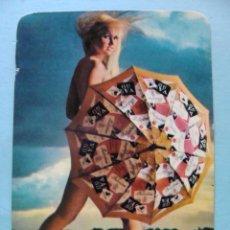 Calendarios: CALENDARIO DE DESNUDOS. AÑO 1974. MUJER DESNUDA. PARAGUAS BEBIDAS VAT 69 BALLANTINES NO FOURNIER. Lote 43106609