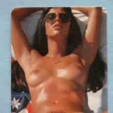 Calendarios: CALENDARIO DE DESNUDOS. AÑO 1982. MUJER DESNUDO ÍNTEGRO. GAFAS SOL NO FOURNIER. Lote 43505660