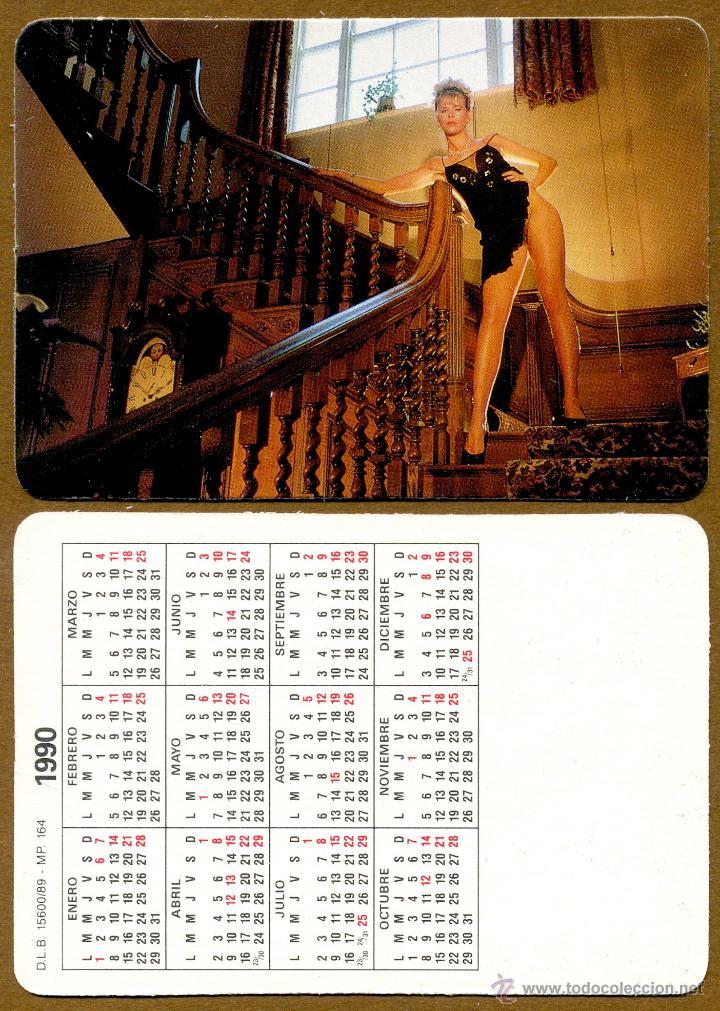 CALENDARIOS BOLSILLO DESNUDOS - CHICA 1990 (Coleccionismo para Adultos - Calendarios)