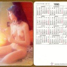 Calendarios: CALENDARIOS BOLSILLO DESNUDOS - CHICA 1990. Lote 44761847