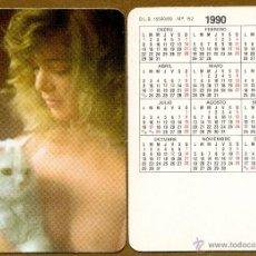 Calendarios: CALENDARIOS BOLSILLO DESNUDOS - CHICA 1990. Lote 45313279