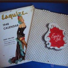 Calendarios: (CA-1015)CALENDARIO EROTICO ESQUIRE GIRL AÑO 1948,COMPLETO CON SOBRE. Lote 45863148