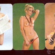 Calendriers: 3 CALENDARIOS BOLSILLO CHICAS DESNUDAS 1977. Lote 48111071