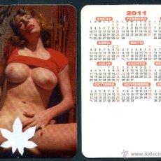 Calendarios: CALENDARIOS BOLSILLO DESNUDOS CHICA - SERIGRAFIADO 2011. Lote 222340762