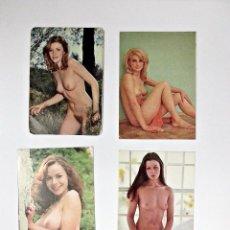 Calendarios: LOTE DE 4 CALENDARIOS DE BOLSILLO EROTICOS DE 1977. Lote 56489331