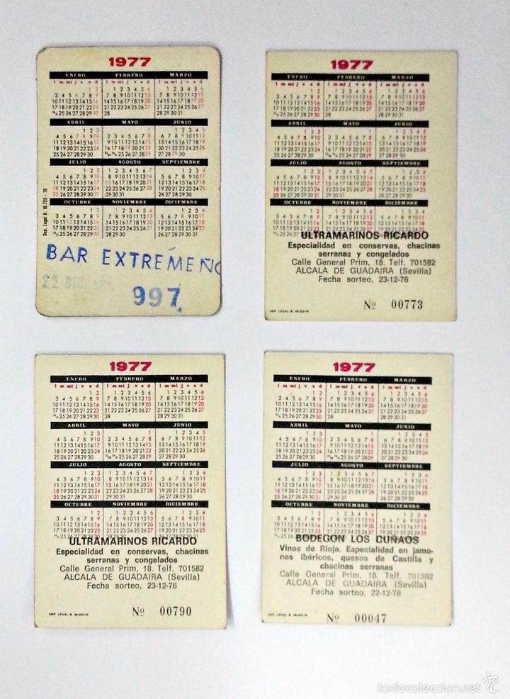 Calendarios: Lote de 4 calendarios de bolsillo eroticos de 1977 - Foto 2 - 56489331
