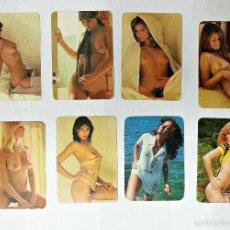 Calendarios: LOTE DE 8 CALENDARIOS DE BOLSILLO EROTICOS DE 1978. Lote 56489387