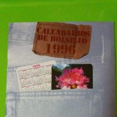Calendarios: 2 CATÁLOGOS COMPLETOS CALENDARIOS DE BOLSILLO AÑO 1996 UNO VARIADO Y EL DÍPTICO ERÓTICO COLECCIÓN. Lote 56745037