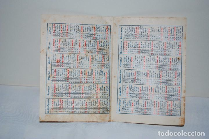 Calendario 1958.Calendario 1958
