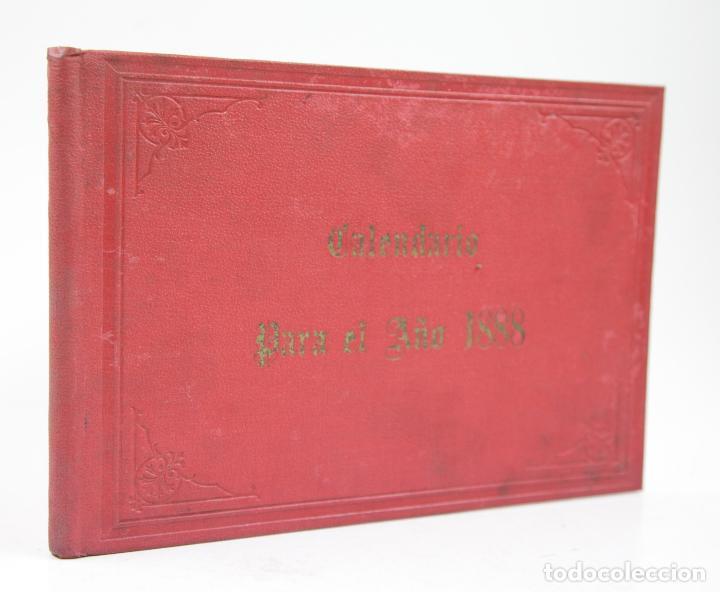 CALENDARIO PARA 1888, ALMANAQUES AMERICANOS, BARCELONA. 22,3X15,5CM (Coleccionismo para Adultos - Calendarios)