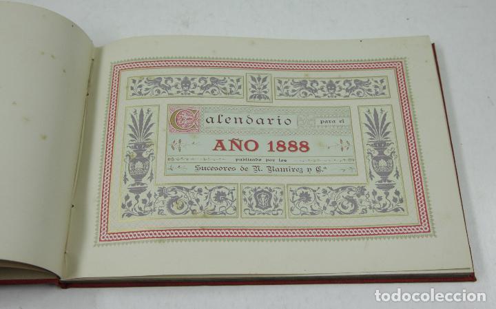 Calendarios: Calendario para 1888, almanaques americanos, barcelona. 22,3x15,5cm - Foto 3 - 111320643