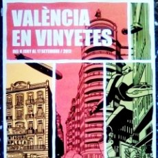 Calendarios: CARTEL EXPOSICION - VALENCIA EN VIÑETAS - DIBUJO DE PACO ROCA.TAMAÑO 70X50 CMS. Lote 138830054