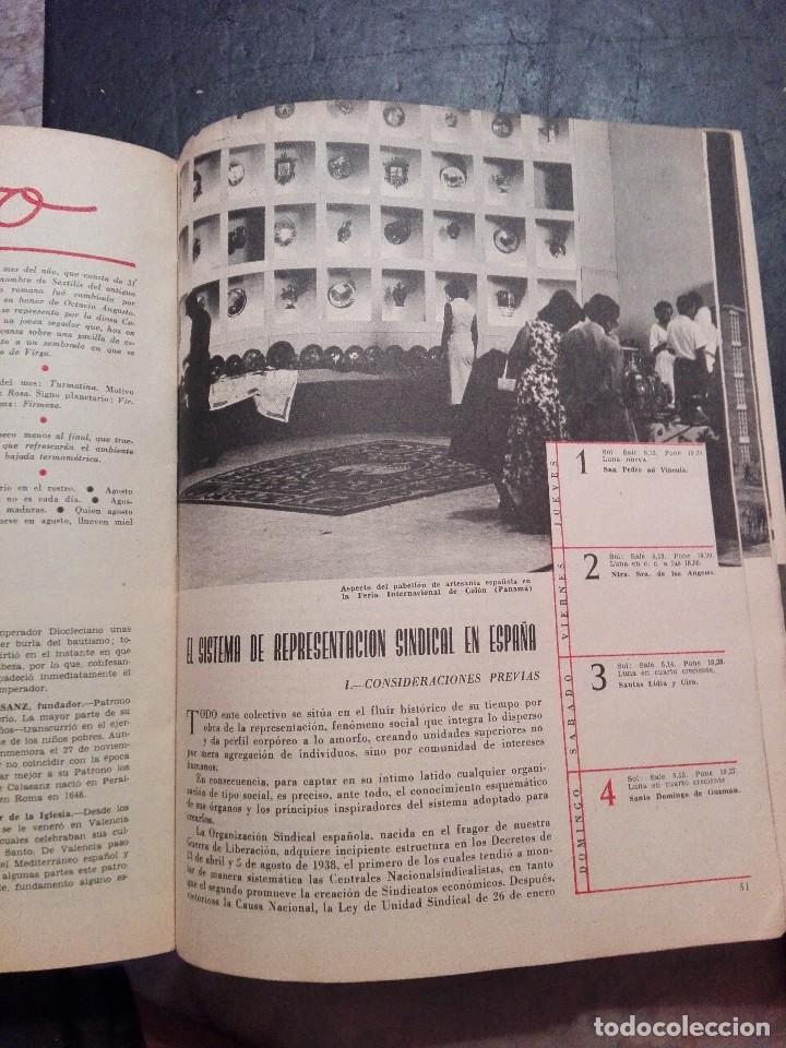 Calendarios: Antiguo Almanaque sindical 1957 - Foto 2 - 120771127