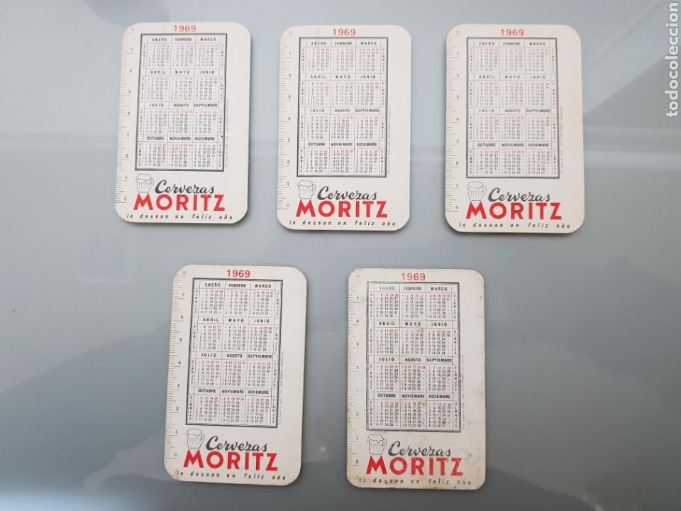 Calendarios: LOTE 5 CALENDARIOS BOLSILLO 1969 CERVEZAS MORITZ - Foto 2 - 145210794
