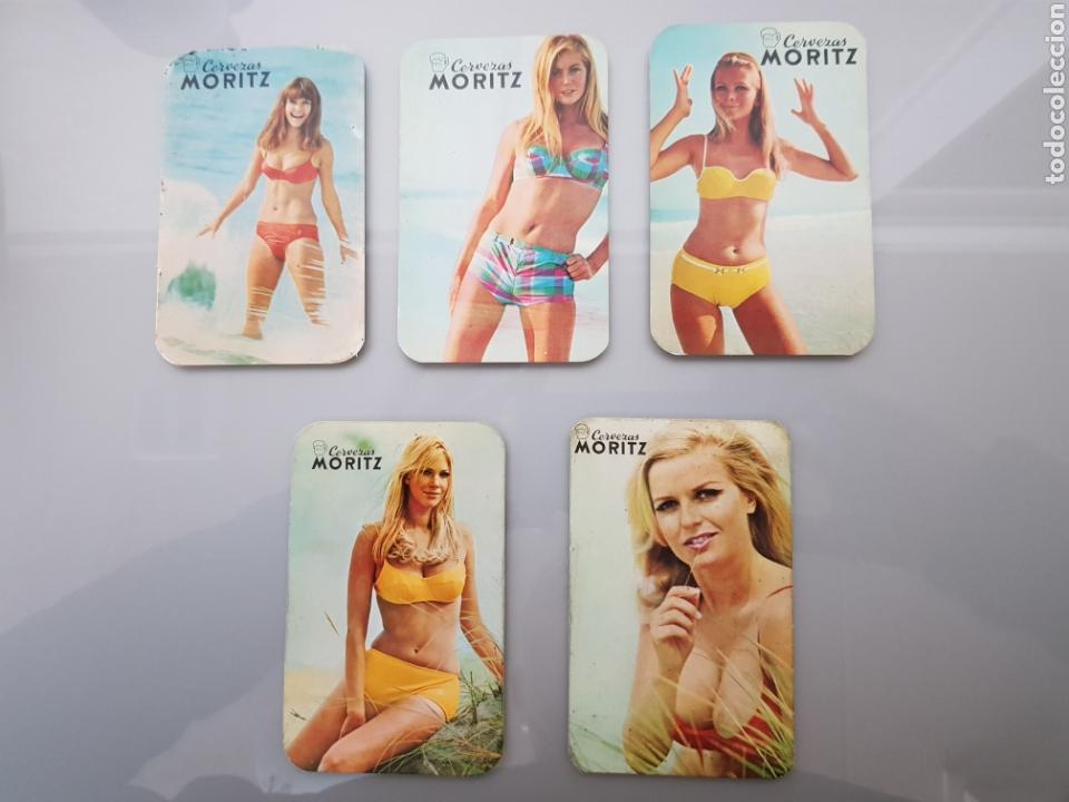 LOTE 5 CALENDARIOS BOLSILLO 1969 CERVEZAS MORITZ (Coleccionismo para Adultos - Calendarios)
