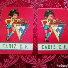 Calendriers: 2 CALENDARIOS CADIZ CLUB DE FUTBOL TEMPORADAS 86.87 Y 88-89. Lote 161438858
