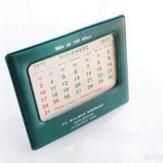 Calendarios: SOPORTE DE CALENDARIO VINTAGE DE SOBREMESA. DR. WILLMAR SCHWABE, KARLSRUHE, GERMANY. INCOMPLETO. Lote 165836950