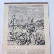 Calendarios: CALENDARIO BANCO GUIPUZCOANO 1961 - BENJAMÍN PALENCIA. Lote 176070865