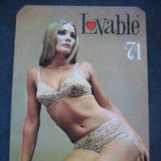 Calendarios: CALENDARIO LENCERIA LOVABLE 1971. Lote 205593066