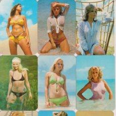 Calendarios: LOTE 9 CALENDARIOS DE BOLSILLO ERÓTICOS - 1974. Lote 207499782