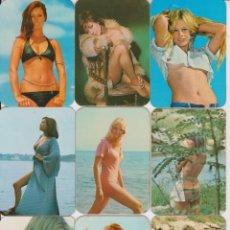 Calendarios: LOTE 9 CALENDARIOS DE BOLSILLO ERÓTICOS - 1974. Lote 207521722
