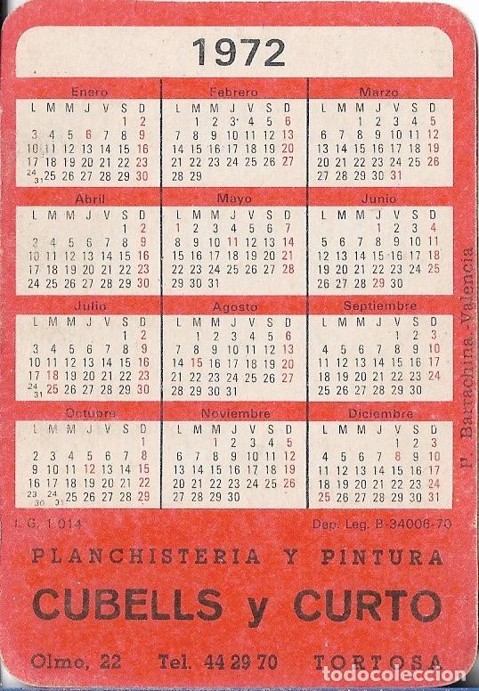 Calendarios: CALENDARIO 1972 EROTICO PLANCHISTERIA Y PINTURA CUBELLS Y CURTO - TORTOSA (TARRAGONA) I.G.1014 - Foto 2 - 49462048