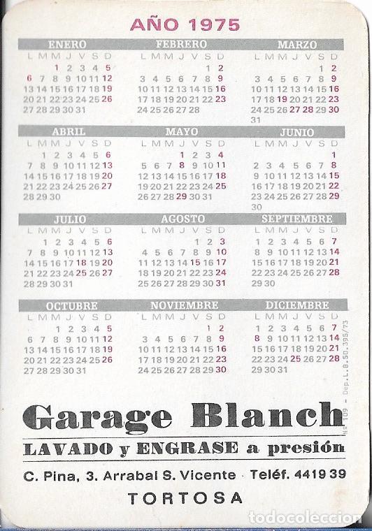 Calendarios: CALENDARIO 1975 EROTICO GARAGE BLANCH - TORTOSA (TARRAGONA) Nº109 - Foto 2 - 49462308